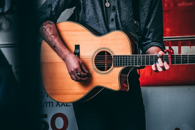 guitar and tattoo
