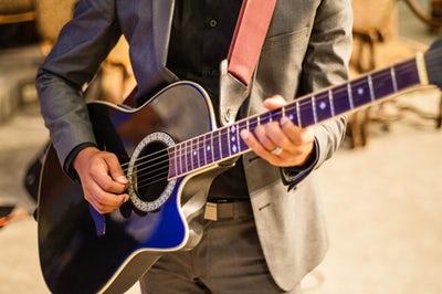 guitar in a coat